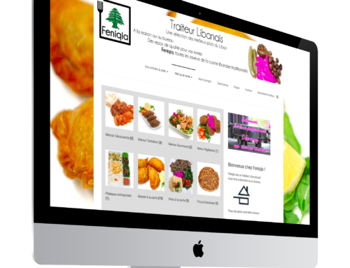 Site boutique pour un traiteur