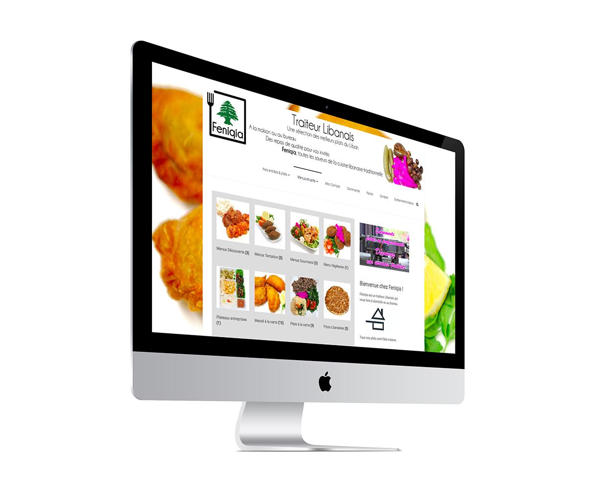 Ecran d'un site de traiteur réalisé par l'agence Grain de sell