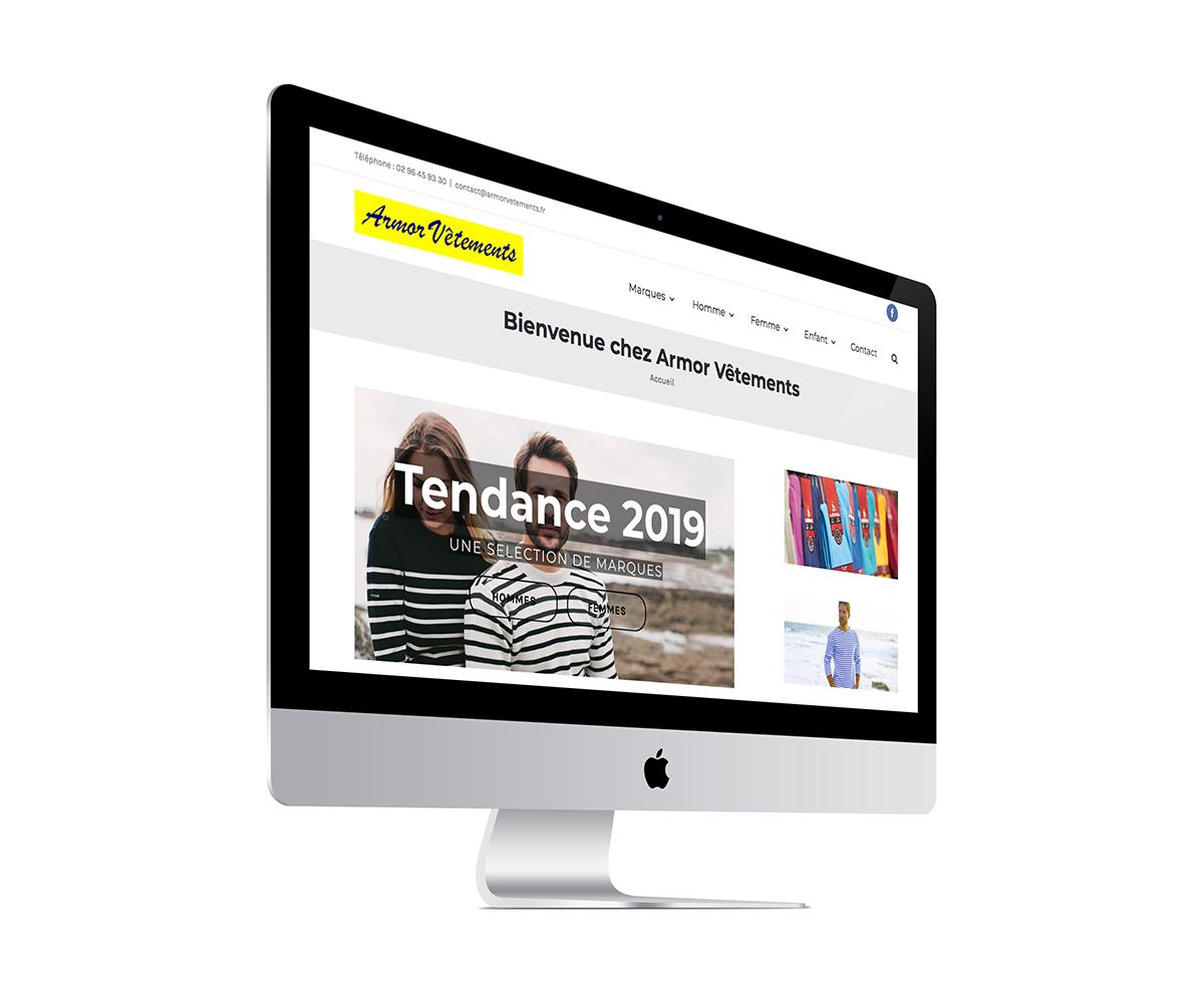 Site Internet d'une boutique de vêtements