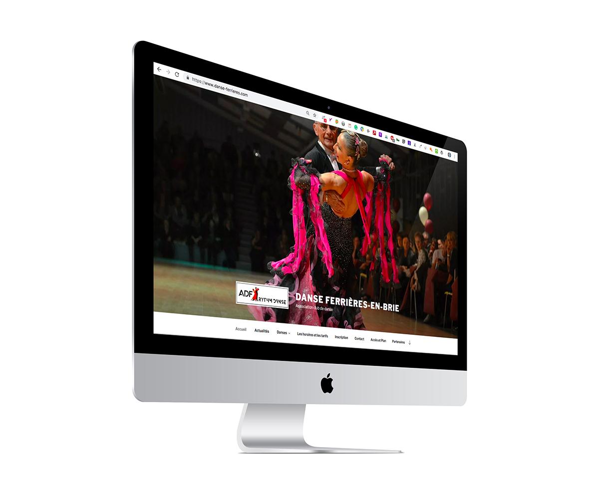 site d'un club de danse réalisation Grain de Sell