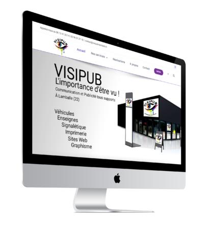 image de la page d'accueil du site internet Visipub agence graindesell