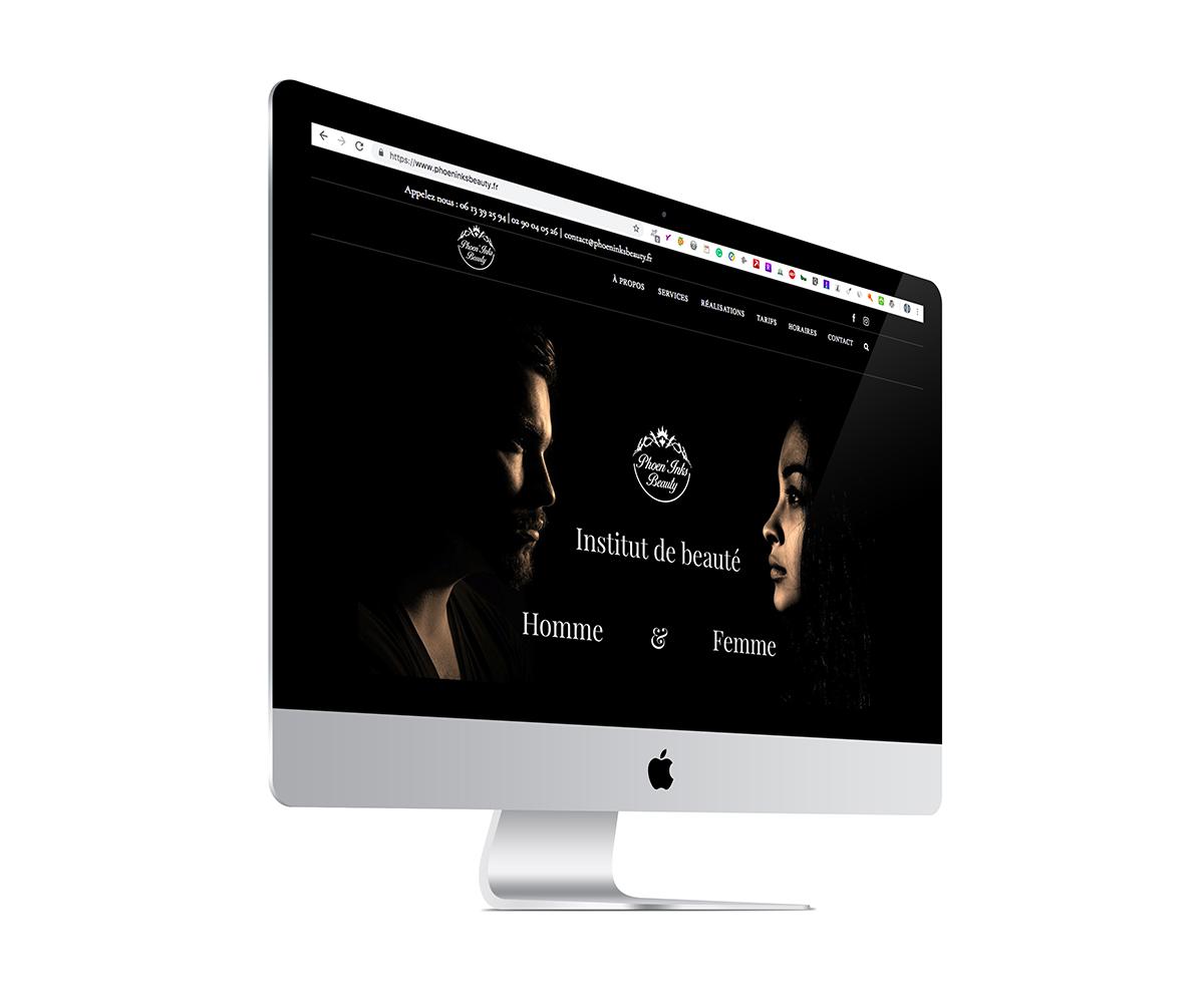 Ecran du site Internet d'une esthéticienne à Saint-Malo