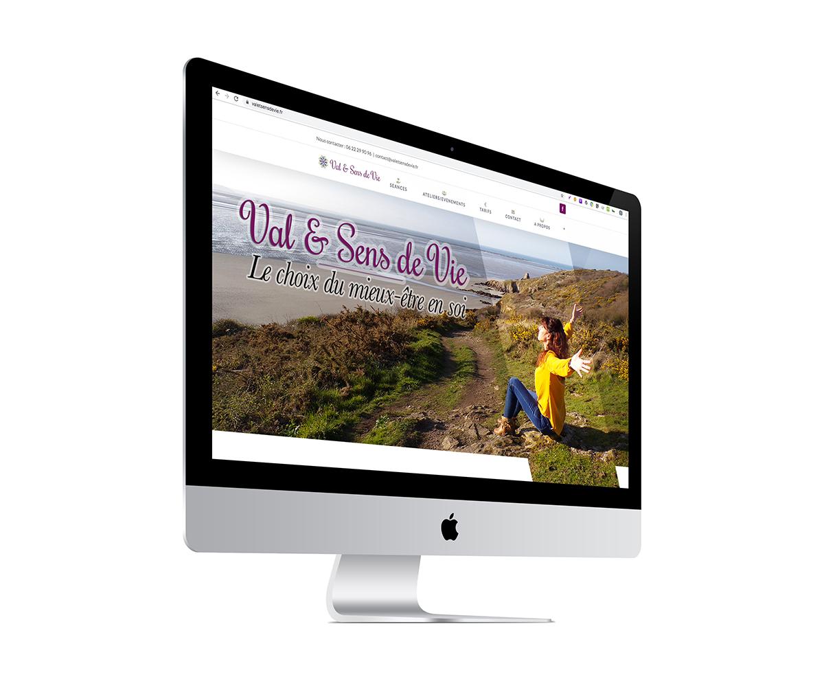 Ecran du site valetsensdevie.fr créé par l'agence Grain de Sell