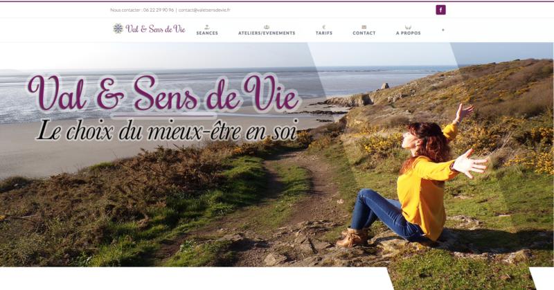 Réalisation du site Internet valetsensdevie.fr