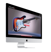 Photo de l'écran du site jouer-guitare.fr