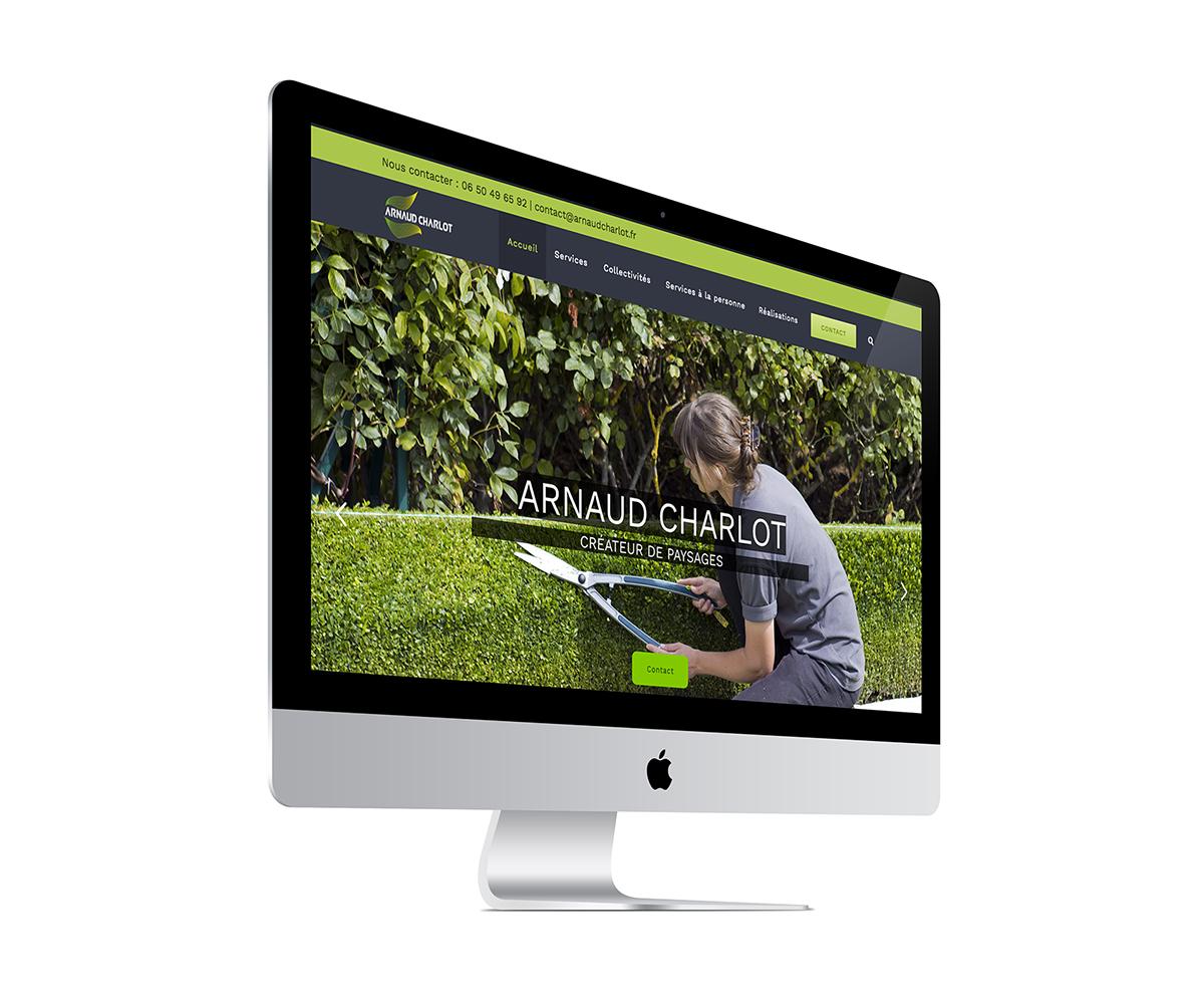 ecran site internet arnaud charlot