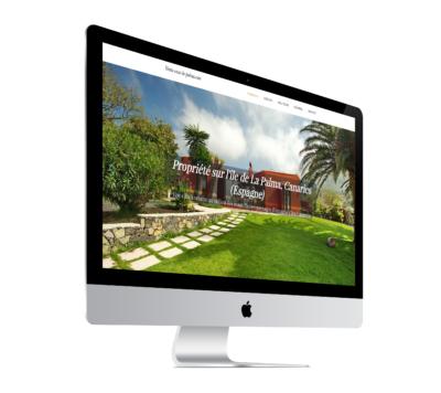 Ecran d'un site internet réalisé par l'agence Grain de Sell Paimpol