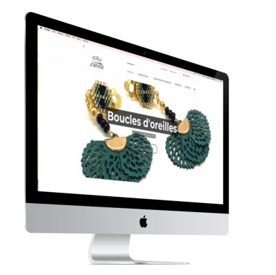 Ecran site internet perledarmor.fr vente de bijoux en ligne
