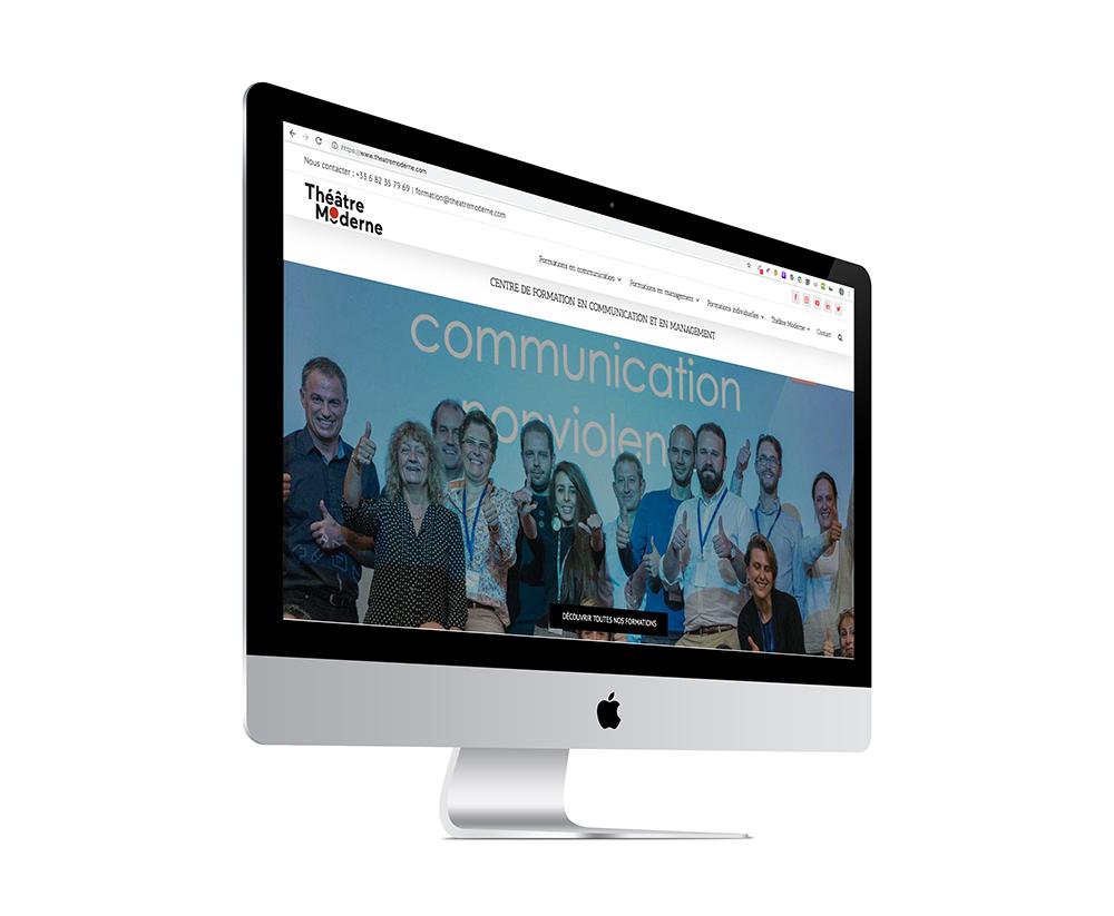 photo de la page d'accueil du dernier site internet créé
