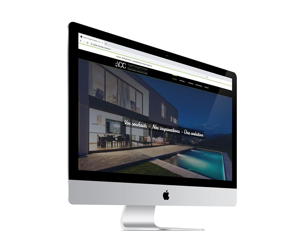 écran du site internet d'un maître d'oeuvre breton