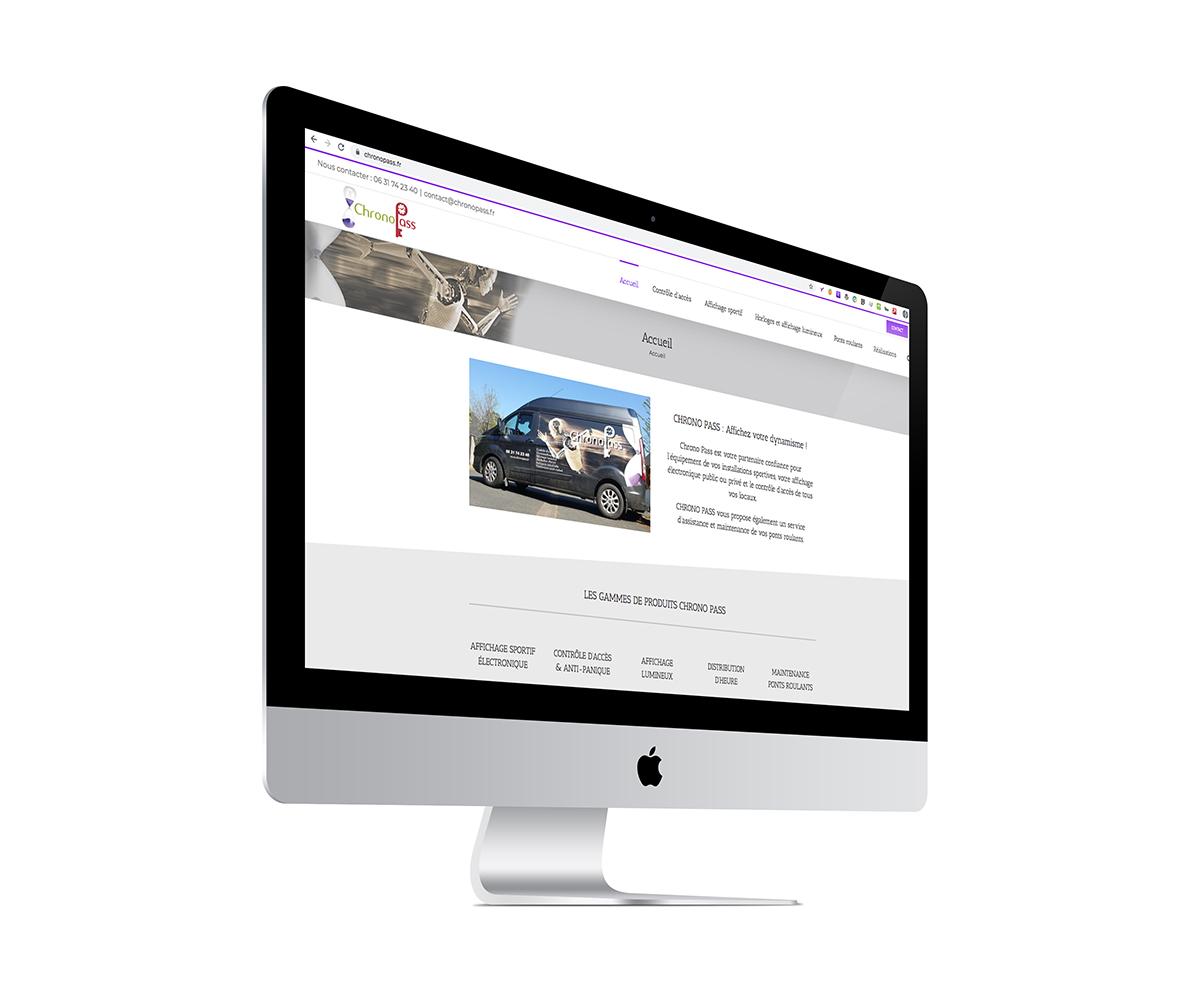 Ecran du site Internet de l'entreprise Chrono Pass de Lézardrieux