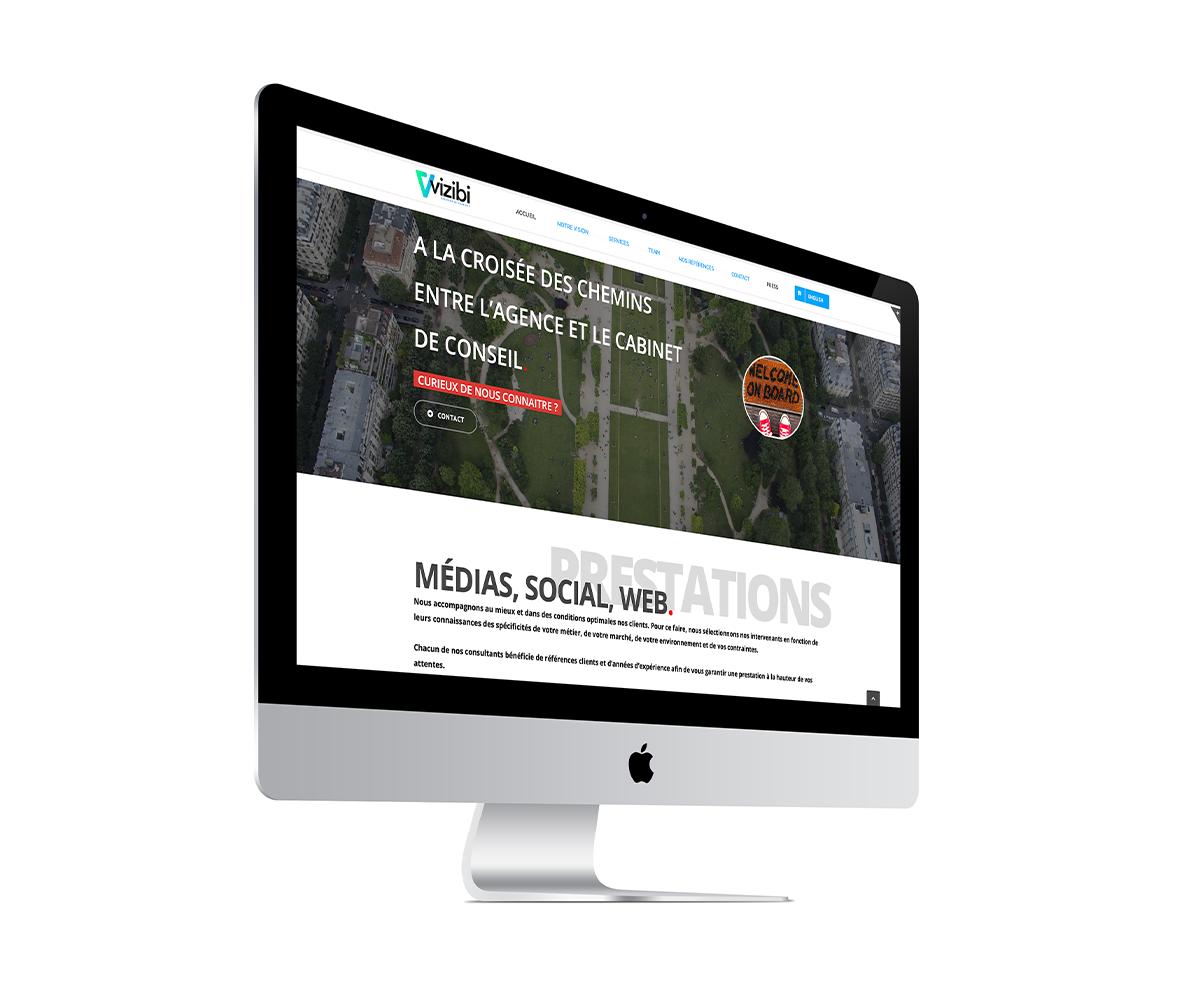 écran du site professionnel de vizibi.fr