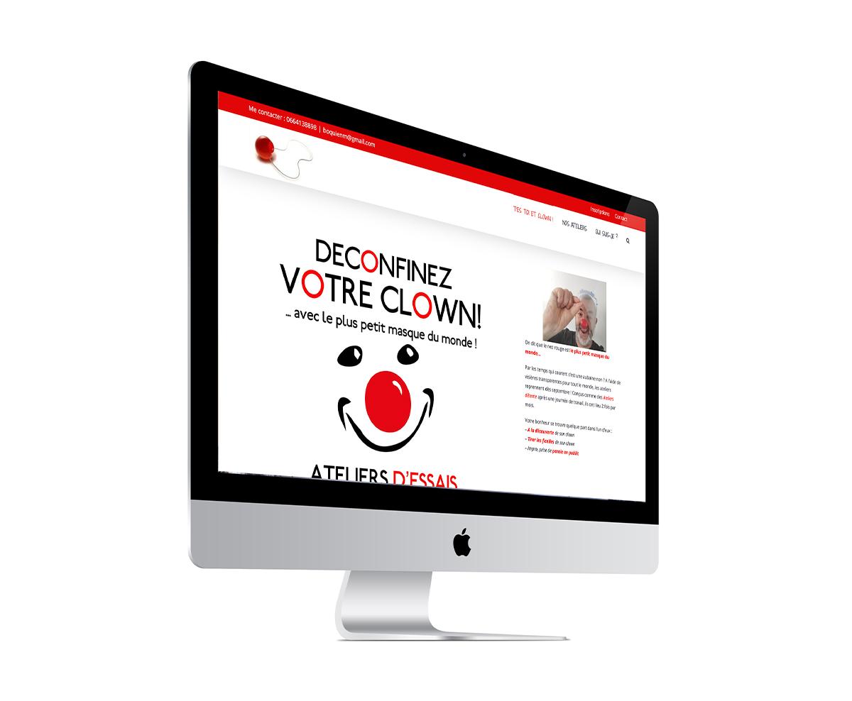 Site internet t'est toi et clown