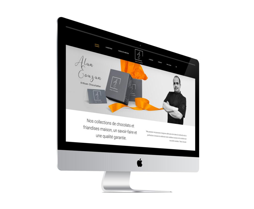 Création site internet pour le chocolatier alan eouzan paimpol par l'Agence Grain de Sell