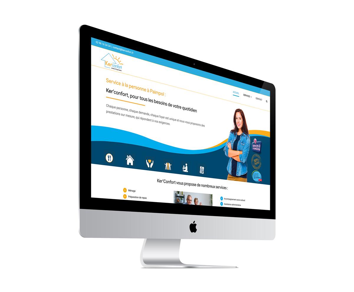 écran du site internet Ker'Confort à Paimpol 22